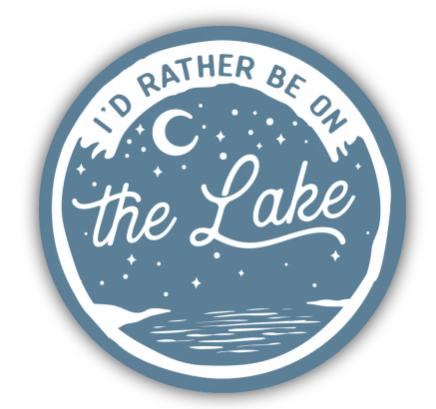 I'd Rather be on the Lake Sticker