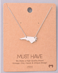 North Carolina State Pendant|Silver