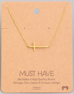 Load image into Gallery viewer, Side Cross Pendant|Gold