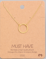 Load image into Gallery viewer, Simple Circle Pendant|Gold