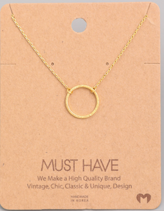 Simple Circle Pendant|Gold