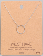 Load image into Gallery viewer, Simple Circle Pendant|Silver