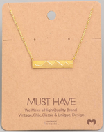 Load image into Gallery viewer, Mountain Bar Pendant|Gold