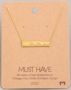 Mountain Bar Pendant|Gold