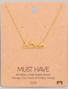Mountain Pendant|Gold
