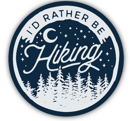I'd Rather be Hiking Sticker