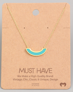 Load image into Gallery viewer, Half Moon Pendant|Turquoise