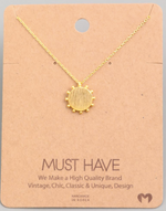 Load image into Gallery viewer, Sun Disc Pendant|Gold