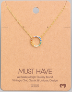 Load image into Gallery viewer, Rainbow Circle Pendant|Gold
