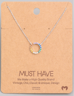 Load image into Gallery viewer, Rainbow Circle Pendant|Silver