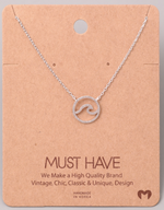 Load image into Gallery viewer, Wave Cutout Pendant|Silver