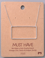 Load image into Gallery viewer, Rectangle Cutout Pendant|Silver
