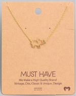Load image into Gallery viewer, Elephant Cutout Pendant|Gold