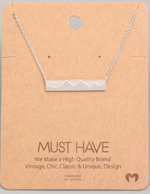 Load image into Gallery viewer, Mountain Bar Pendant|Silver