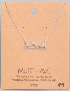 Mountain Pendant|Silver