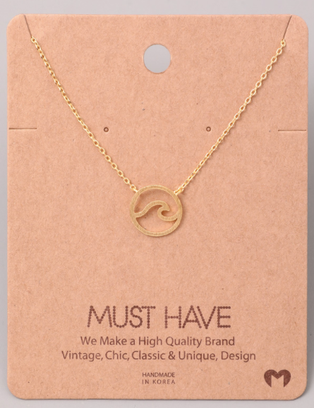 Wave Cutout Pendant|Gold