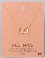 Load image into Gallery viewer, Double Heart Pendant|Gold