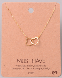 Double Heart Pendant|Gold