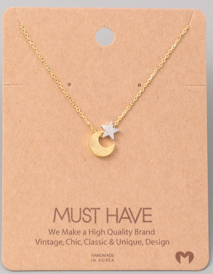 Crescent Moon Charm|Gold