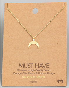 Crescent Moon Pendant|Gold