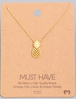 Load image into Gallery viewer, Pineapple Cutout Pendant|Gold