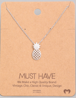 Load image into Gallery viewer, Pineapple Cutout Pendant|Silver