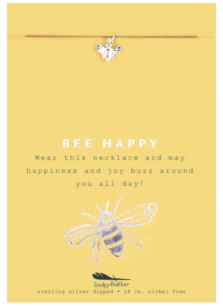 Bee Happy, Bee Silver Necklace