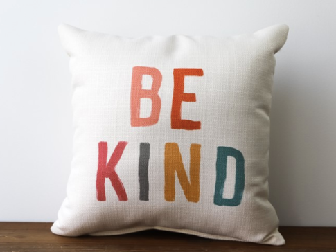 """Be Kind"" Canvas Pillow"