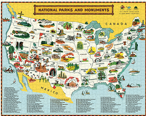 National Parks Map 1000 Piece Puzzle