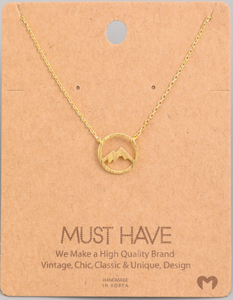 Mountain Range Pendant|Gold