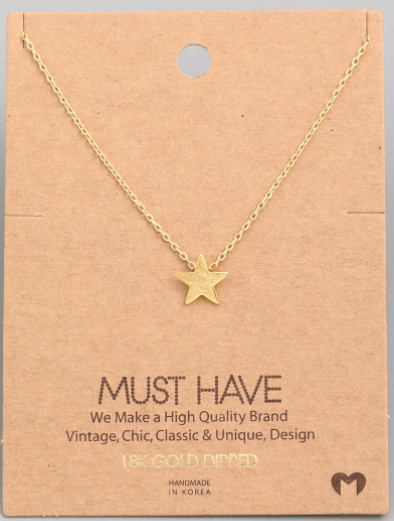 Mini Star Pendant|Gold