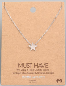 Mini Star Pendant|Silver