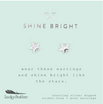 Load image into Gallery viewer, Shine Bright, Silver Star Earrings