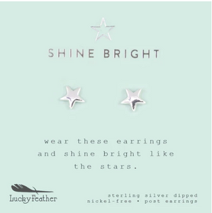 Shine Bright, Silver Star Earrings
