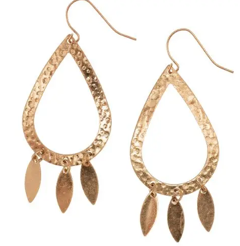 Gold Teardrop + Gold Dangles