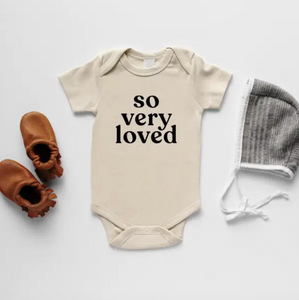 So Very Loved Organic Baby Bodysuit