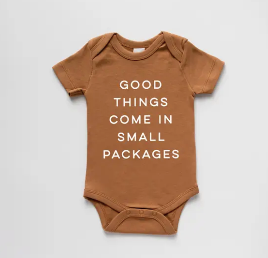 Good Things, Small Packages Organic Baby Bodysuit