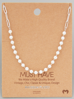Load image into Gallery viewer, Pearl Beaded Chain|Silver