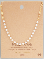 Load image into Gallery viewer, Pearl Beaded Chain|Gold