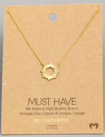 Load image into Gallery viewer, Circle Sun Pendant|Gold