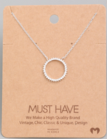 Load image into Gallery viewer, Rhinestone Circle Pendant|Silver