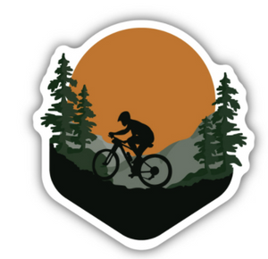 Off Road Biker Sticker