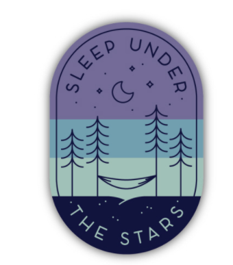 Sleep Under the Stars Sticker