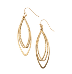 3 Oval Gold Loop Dangle