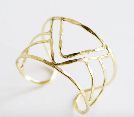 Peaks and Valleys Gold Cuff Bracelet