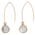Load image into Gallery viewer, Gold Hook + Teardrop Howlite
