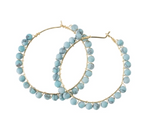 Load image into Gallery viewer, Turquoise Stone Hoop