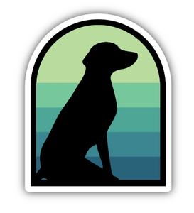 Dog Silhouette Sticker