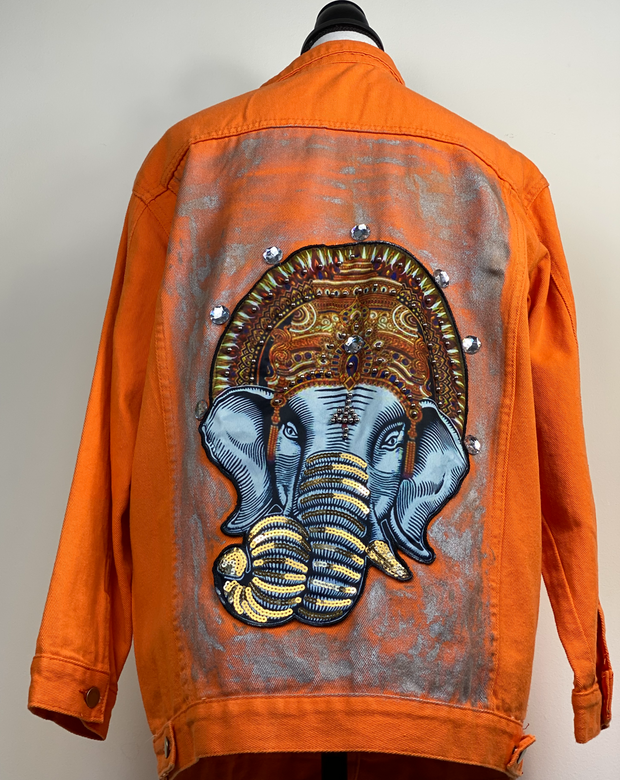 Multicolor Elefant Jean Jacket