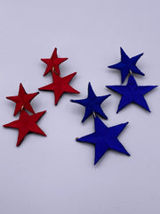 Blue and Red Stars